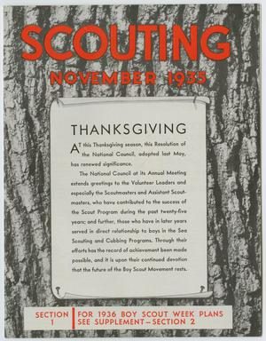 Primary view of object titled 'Scouting, Volume 23, Number 10, November 1935'.