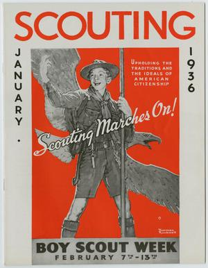 Primary view of Scouting, Volume 24, Number 1, January 1936