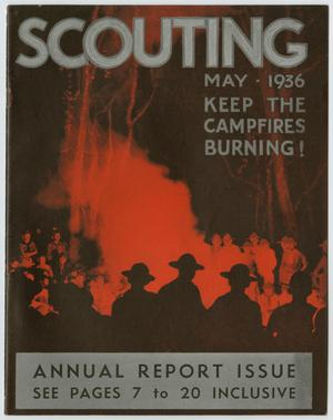 Primary view of object titled 'Scouting, Volume 24, Number 5, May 1936'.