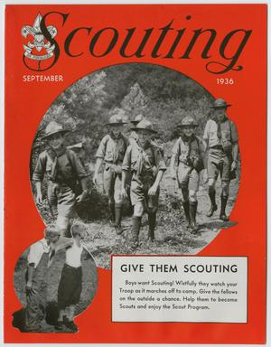 Primary view of Scouting, Volume 24, Number 9, September 1936