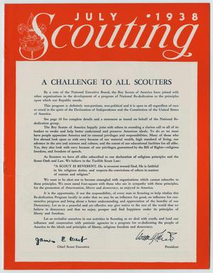 Primary view of object titled 'Scouting, Volume 26, Number 7, July 1938'.
