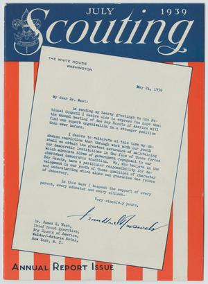 Primary view of object titled 'Scouting, Volume 27, Number 7, July 1939'.