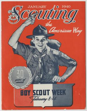 Primary view of object titled 'Scouting, Volume 28, Number 1, January 1940'.