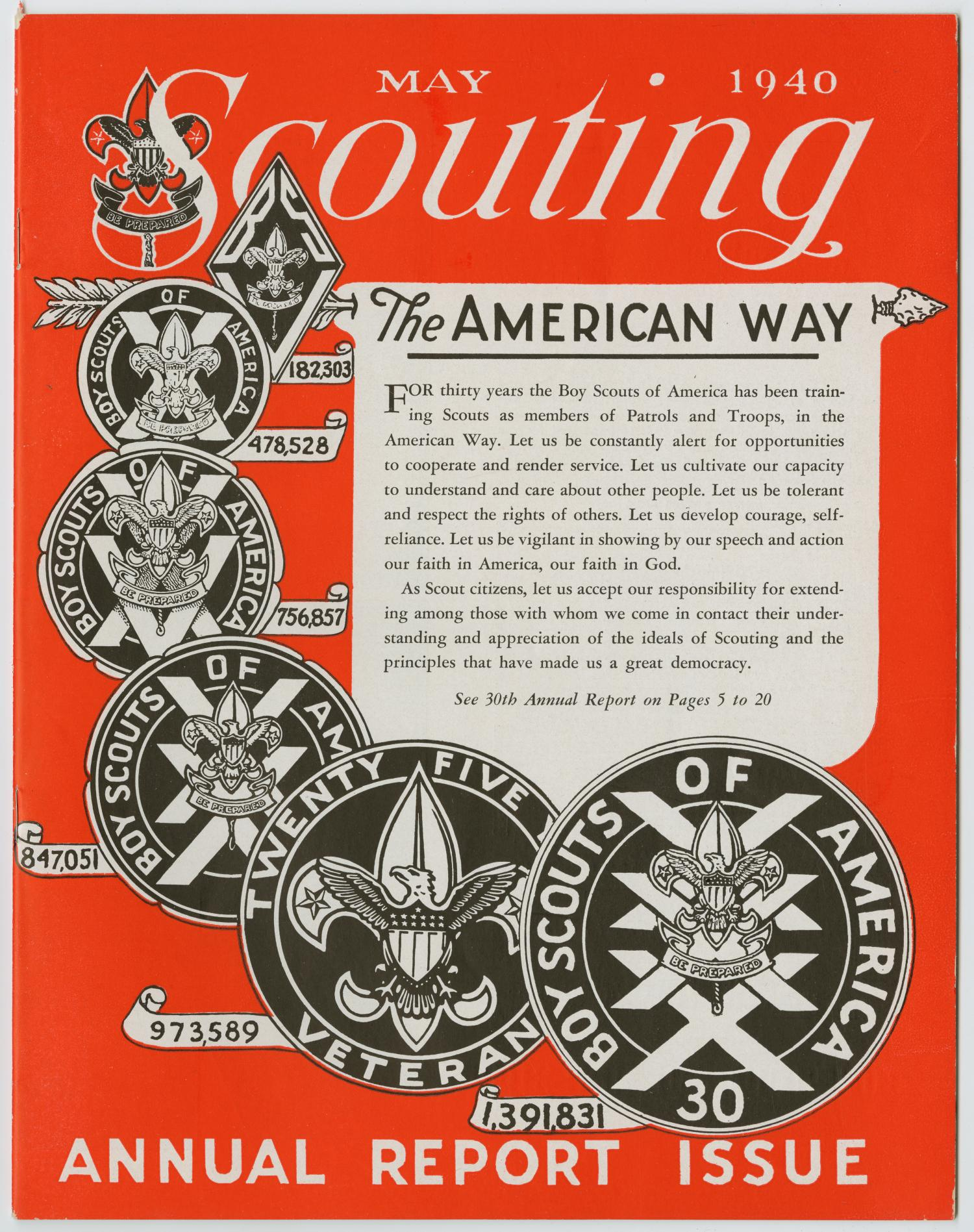 Scouting, Volume 28, Number 5, May 1940                                                                                                      1
