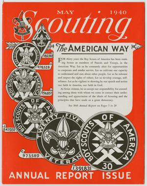 Primary view of object titled 'Scouting, Volume 28, Number 5, May 1940'.
