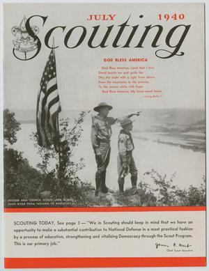 Primary view of object titled 'Scouting, Volume 28, Number 7, July 1940'.
