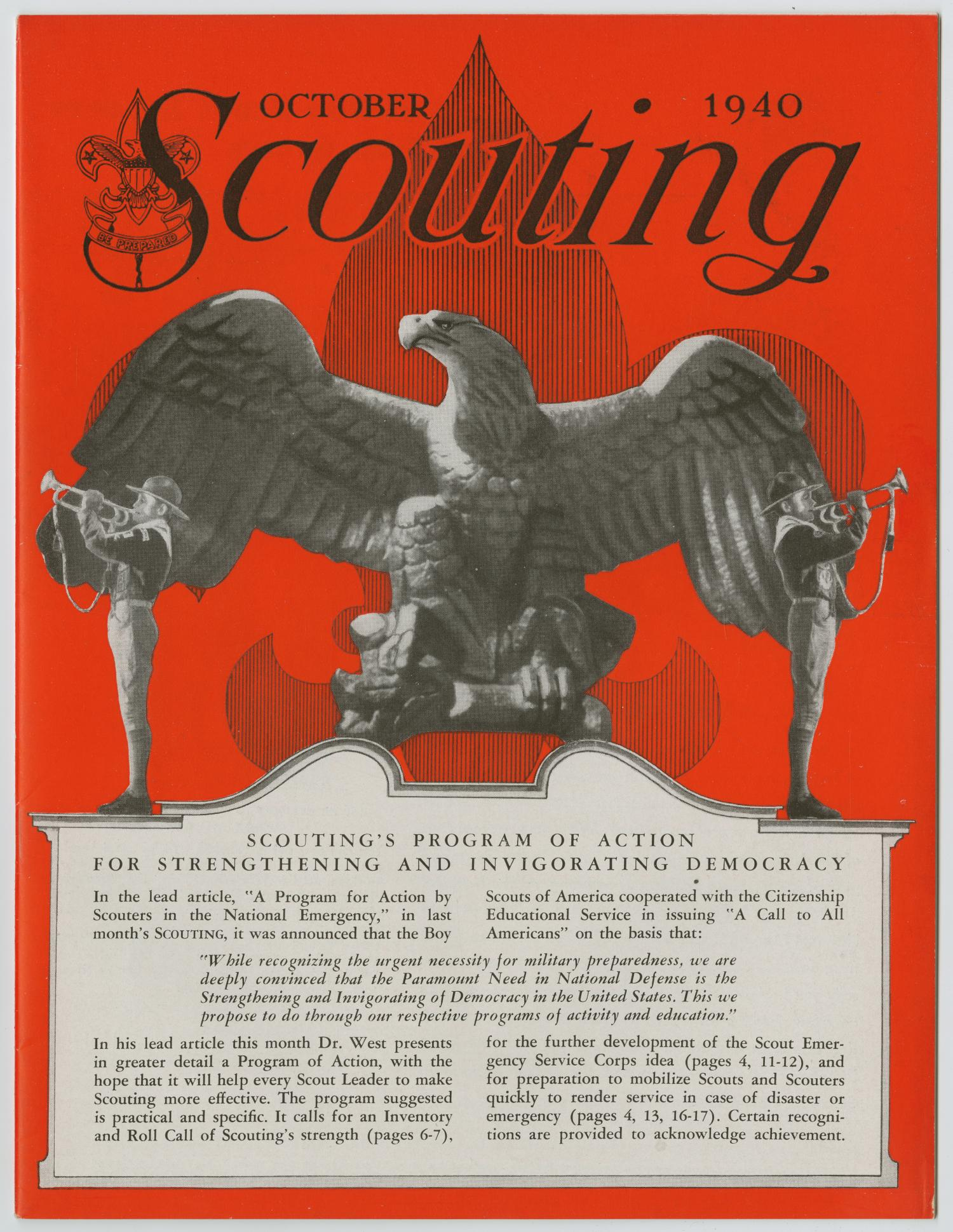 Scouting, Volume 28, Number 9, October 1940                                                                                                      1