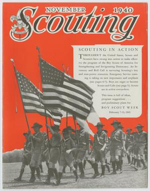 Primary view of object titled 'Scouting, Volume 28, Number 10, November 1940'.