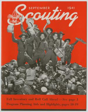 Primary view of object titled 'Scouting, Volume 29, Number 8, September 1941'.