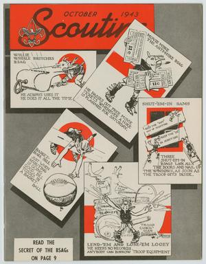 Primary view of object titled 'Scouting, Volume 31, Number 9, October 1943'.