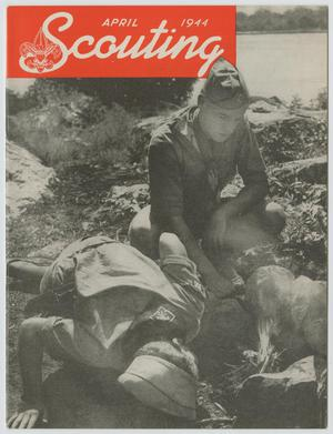 Primary view of object titled 'Scouting, Volume 32, Number 4, April 1944'.