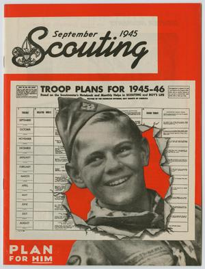 Primary view of object titled 'Scouting, Volume 33, Number 7, September 1945'.