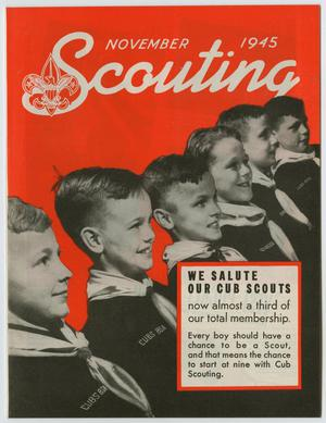 Primary view of object titled 'Scouting, Volume 33, Number 9, November 1945'.