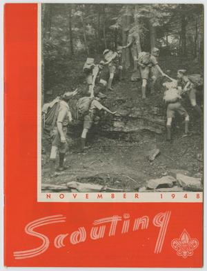 Primary view of object titled 'Scouting, Volume 36, Number 9, November 1948'.