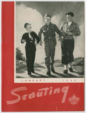 Primary view of object titled 'Scouting, Volume 37, Number 1, January 1949'.