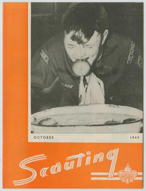 Primary view of object titled 'Scouting, Volume 37, Number 8, October 1949'.