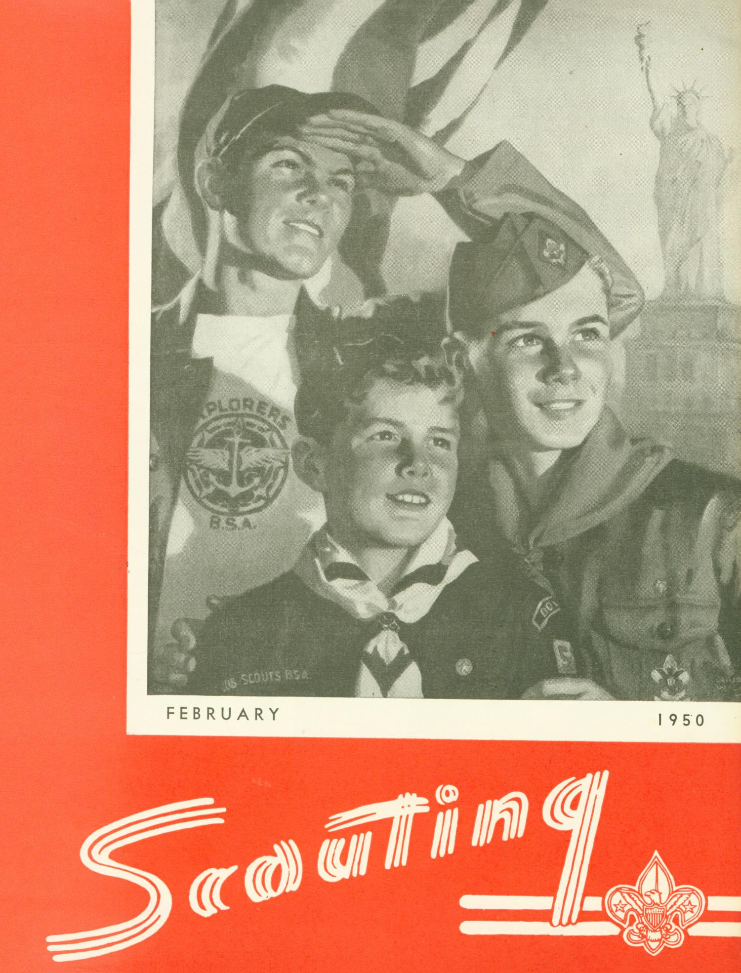 Scouting, Volume 38, Number 2, February 1950                                                                                                      Front Cover