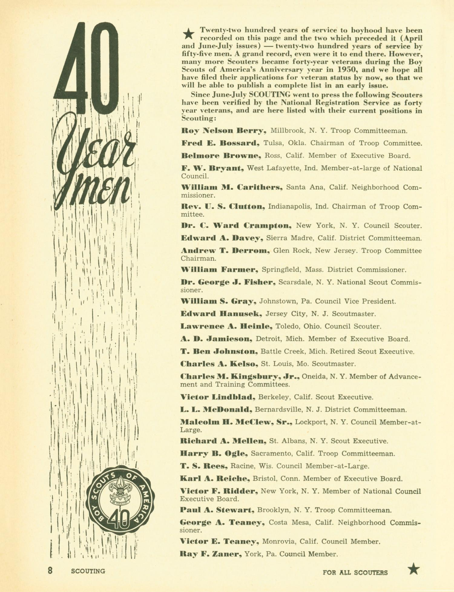 Scouting, Volume 38, Number 10, December 1950                                                                                                      8