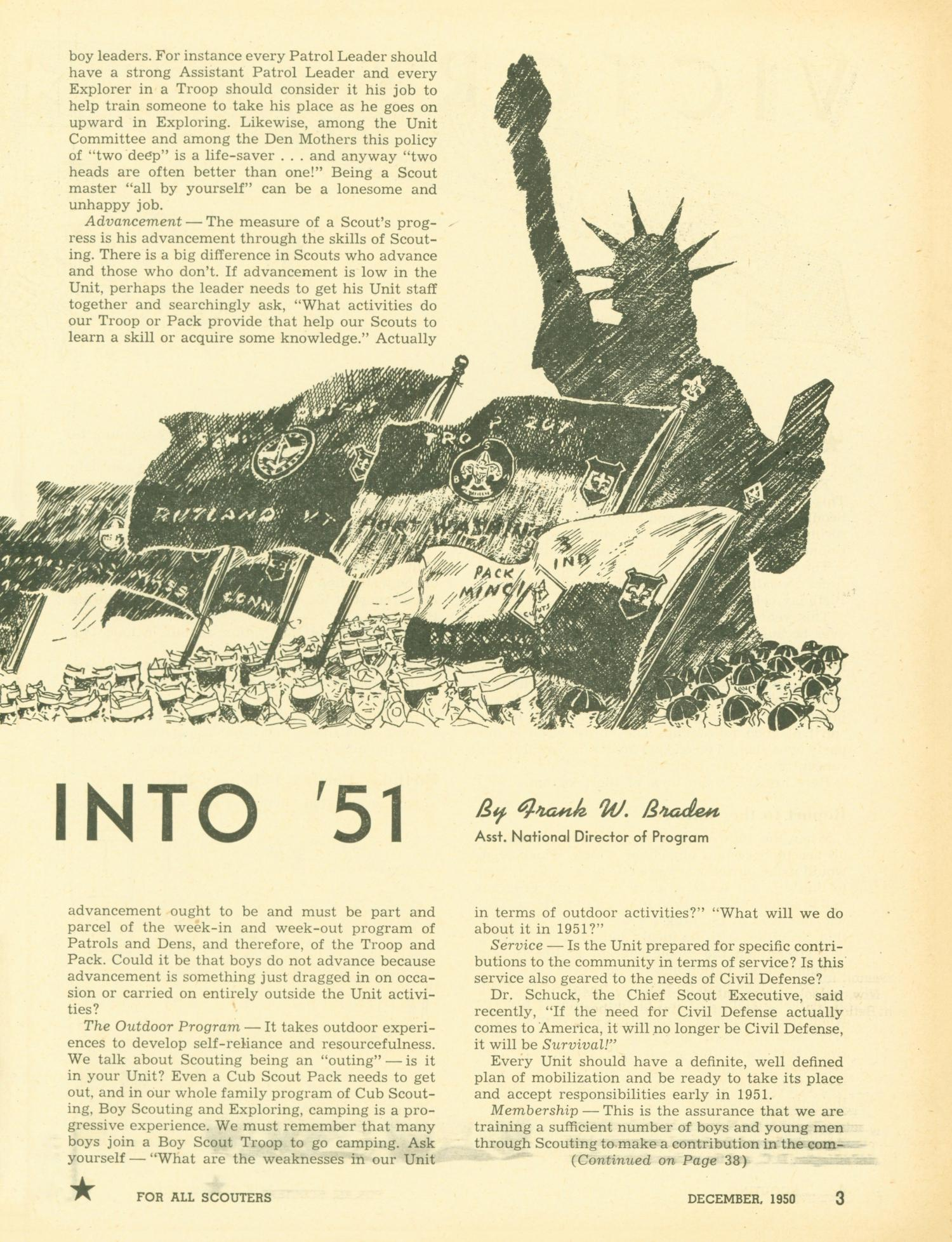 Scouting, Volume 38, Number 10, December 1950                                                                                                      3