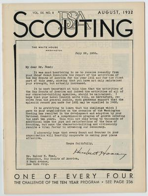 Primary view of object titled 'Scouting, Volume 20, Number 8, August 1932'.