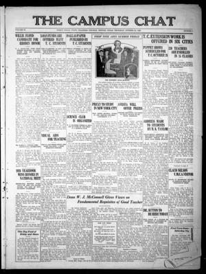 Primary view of object titled 'The Campus Chat (Denton, Tex.), Vol. 11, No. 5, Ed. 1 Thursday, October 21, 1926'.
