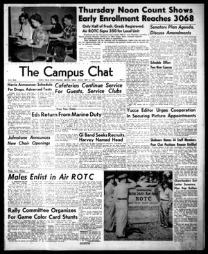 Primary view of object titled 'The Campus Chat (Denton, Tex.), Vol. 35, No. 1, Ed. 1 Friday, September 21, 1951'.