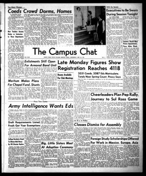 Primary view of object titled 'The Campus Chat (Denton, Tex.), Vol. 35, No. 2, Ed. 1 Wednesday, September 26, 1951'.