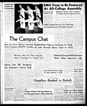 Primary view of object titled 'The Campus Chat (Denton, Tex.), Vol. 35, No. 3, Ed. 1 Friday, September 28, 1951'.