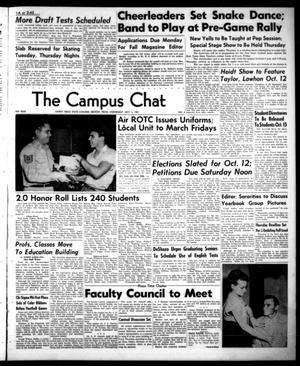 Primary view of object titled 'The Campus Chat (Denton, Tex.), Vol. 35, No. 4, Ed. 1 Wednesday, October 3, 1951'.