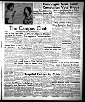 Primary view of object titled 'The Campus Chat (Denton, Tex.), Vol. 35, No. 6, Ed. 1 Wednesday, October 10, 1951'.