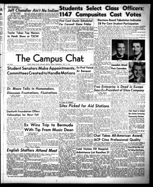 Primary view of object titled 'The Campus Chat (Denton, Tex.), Vol. 35, No. 8, Ed. 1 Wednesday, October 17, 1951'.