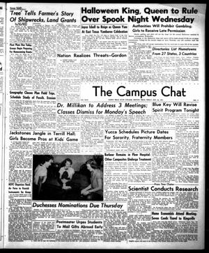 Primary view of object titled 'The Campus Chat (Denton, Tex.), Vol. 35, No. 11, Ed. 1 Friday, October 26, 1951'.