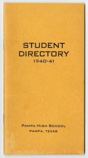 [Pampa High School Student Directory, 1940-1941]