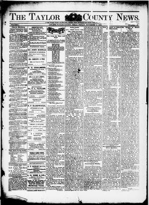 Primary view of object titled 'The Taylor County News. (Abilene, Tex.), Vol. 1, No. 34, Ed. 1 Friday, November 6, 1885'.