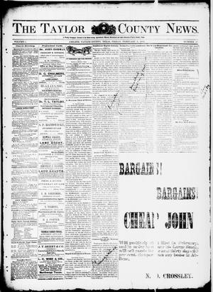 Primary view of object titled 'The Taylor County News. (Abilene, Tex.), Vol. 1, No. 47, Ed. 1 Friday, February 5, 1886'.