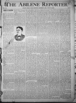 Primary view of object titled 'The Abilene Reporter. (Abilene, Tex.), Vol. 8, No. 51, Ed. 1 Friday, December 20, 1889'.