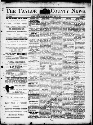 Primary view of object titled 'The Taylor County News. (Abilene, Tex.), Vol. 8, No. 29, Ed. 1 Friday, September 9, 1892'.