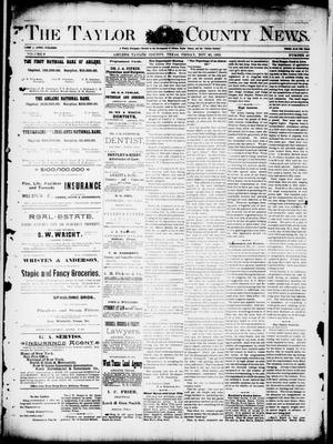 Primary view of object titled 'The Taylor County News. (Abilene, Tex.), Vol. 8, No. 40, Ed. 1 Friday, November 25, 1892'.