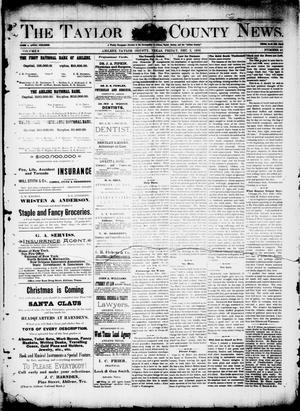 Primary view of object titled 'The Taylor County News. (Abilene, Tex.), Vol. 8, No. 41, Ed. 1 Friday, December 2, 1892'.