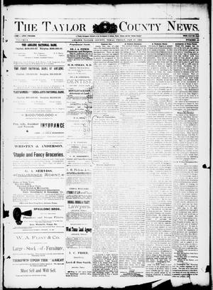 Primary view of object titled 'The Taylor County News. (Abilene, Tex.), Vol. 8, No. 49, Ed. 1 Friday, January 27, 1893'.