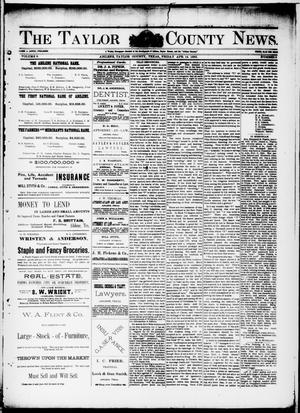 Primary view of object titled 'The Taylor County News. (Abilene, Tex.), Vol. 9, No. 8, Ed. 1 Friday, April 14, 1893'.
