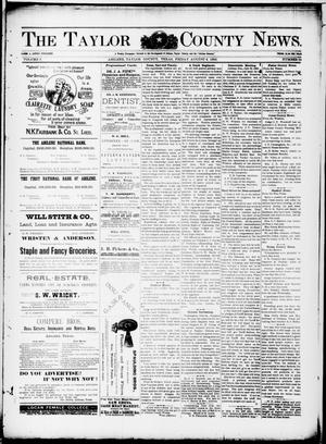 Primary view of object titled 'The Taylor County News. (Abilene, Tex.), Vol. 9, No. 24, Ed. 1 Friday, August 4, 1893'.
