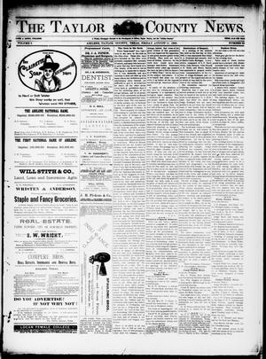Primary view of object titled 'The Taylor County News. (Abilene, Tex.), Vol. 9, No. 25, Ed. 1 Friday, August 11, 1893'.