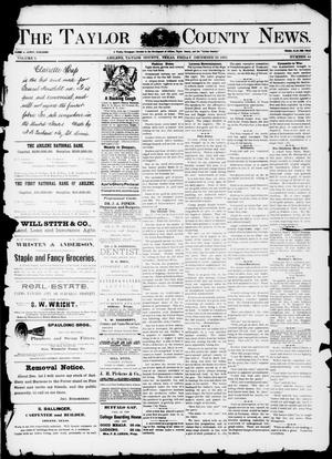 Primary view of object titled 'The Taylor County News. (Abilene, Tex.), Vol. 9, No. 44, Ed. 1 Friday, December 22, 1893'.