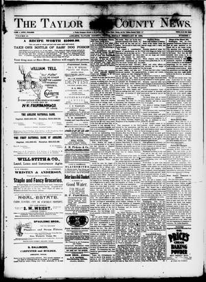 Primary view of object titled 'The Taylor County News. (Abilene, Tex.), Vol. 10, No. 1, Ed. 1 Friday, February 23, 1894'.