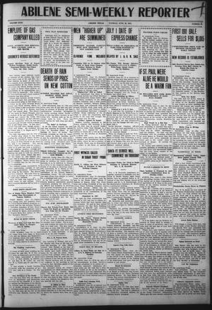 Primary view of object titled 'Abilene Semi-Weekly Reporter (Abilene, Tex.), Vol. 31, No. 53, Ed. 1 Tuesday, June 13, 1911'.