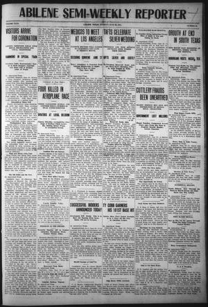 Primary view of object titled 'Abilene Semi-Weekly Reporter (Abilene, Tex.), Vol. 31, No. 55, Ed. 1 Tuesday, June 20, 1911'.