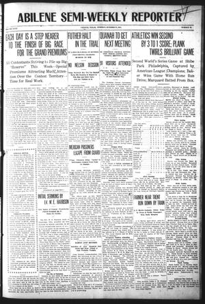 Primary view of object titled 'Abilene Semi-Weekly Reporter (Abilene, Tex.), Vol. 31, No. 89, Ed. 1 Tuesday, October 17, 1911'.