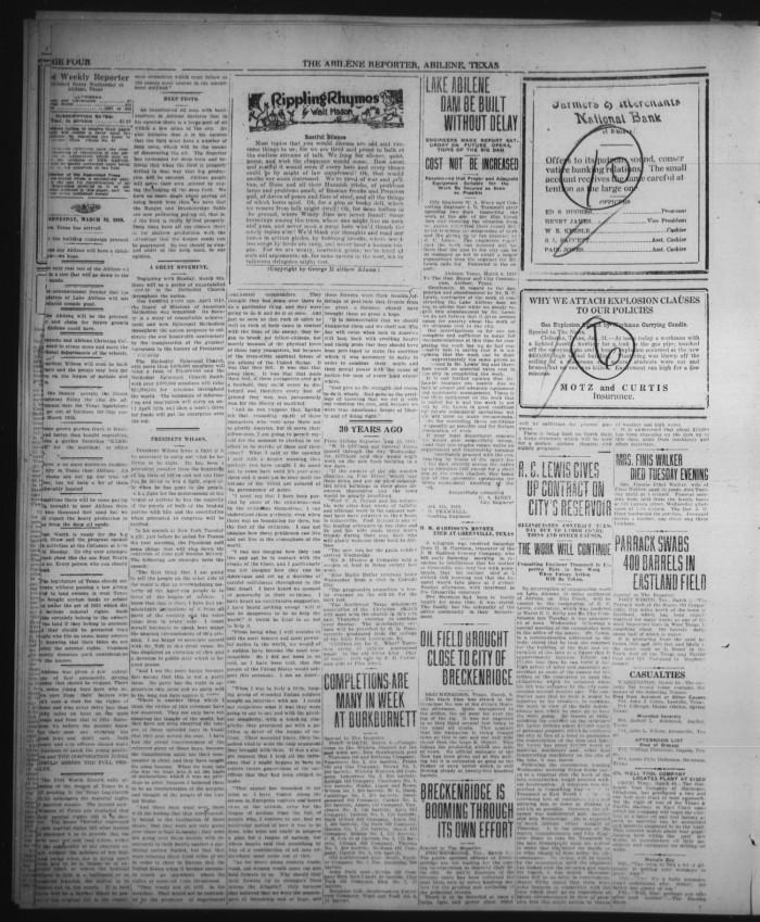 The Abilene Weekly Reporter (Abilene, Tex.), Vol. 34, No. 11, Ed ...