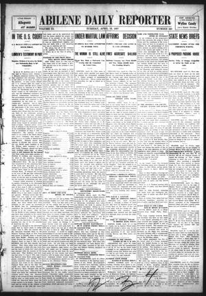 Primary view of object titled 'Abilene Daily Reporter (Abilene, Tex.), Vol. 11, No. 240, Ed. 1 Tuesday, April 16, 1907'.